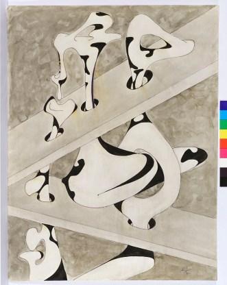 Agustín Cárdenas, Sans titre [signé 1970] Gouache et aquarelle sur papier 64,5×50 cm