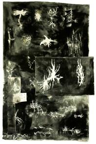 Francisca Aninat, Vacíos de Voz Negro, 2019. Técnica mixta (acrílico y óleo sobre lienzo). Obra única. Cortesía de Bendana | Pinel Art contemporain y artista