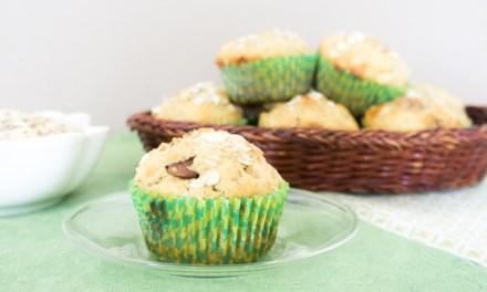 Muffins de avena y doble chocolate