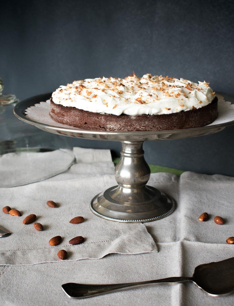 receta de tarta de plátano y chocolate