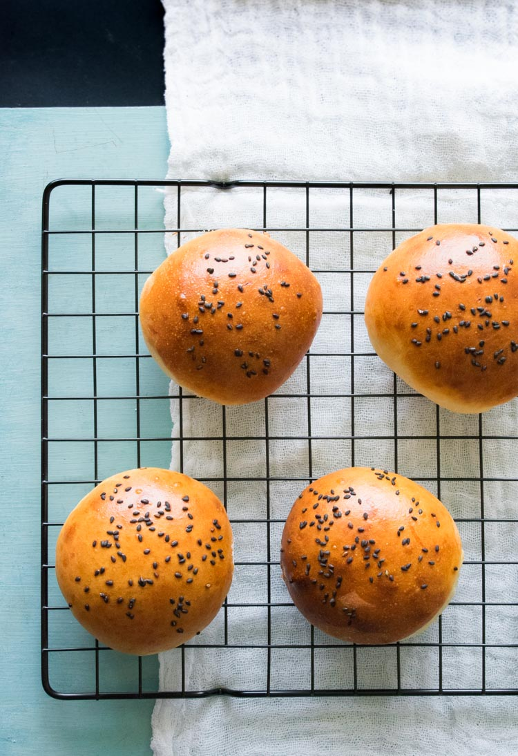receta de bollos de hamburguesa