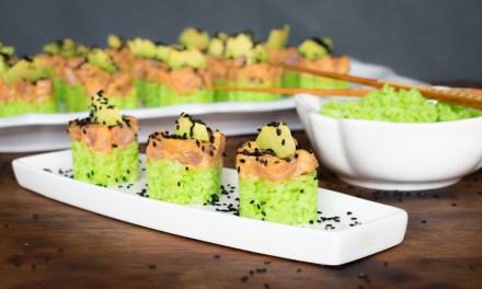 Torrecitas de sushi de atún spicy