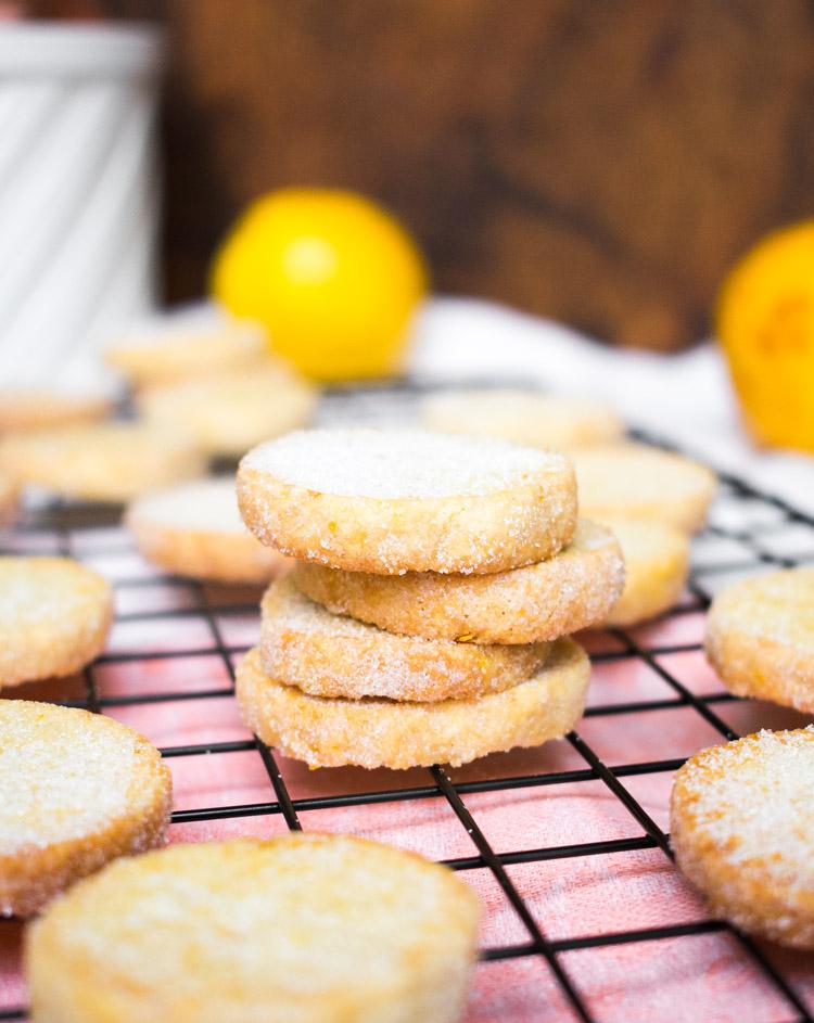 Receta de galletas de naranja