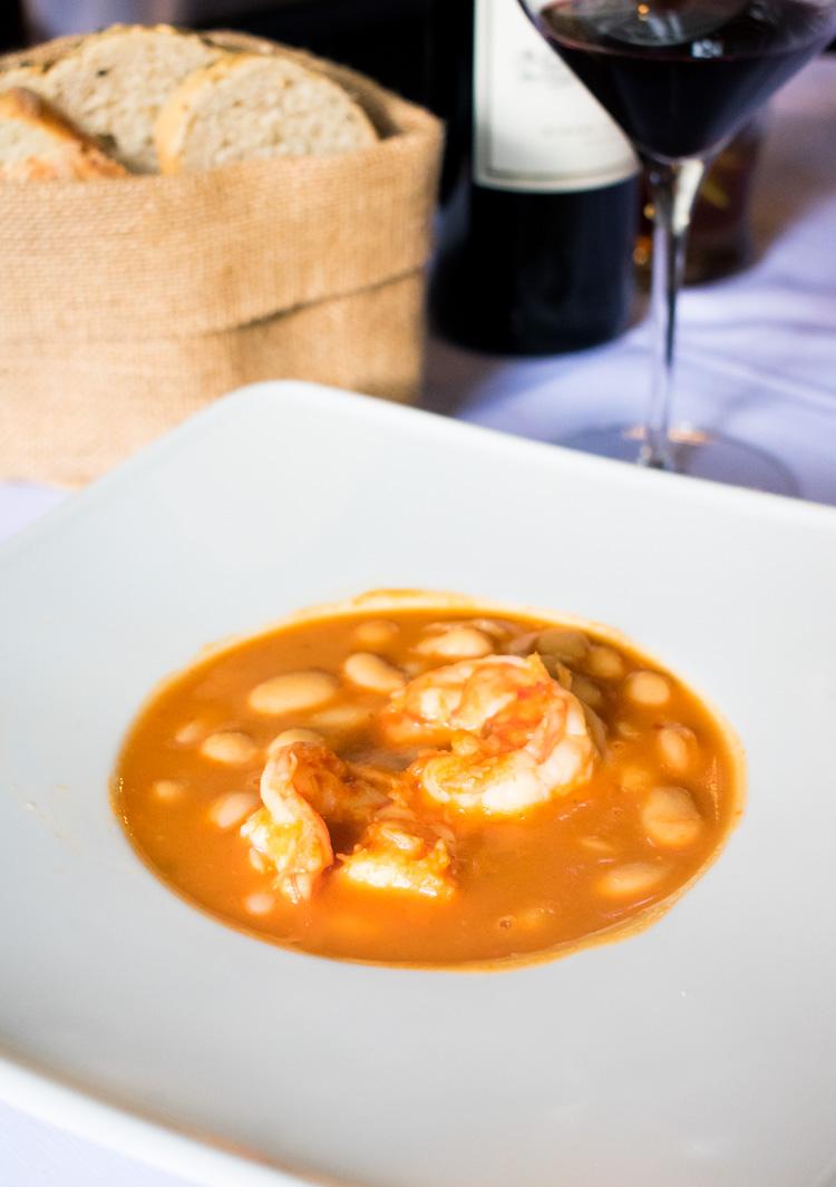 La Mallorquina, restaurante de comida española en la ciudad de México - Fabes con camarón