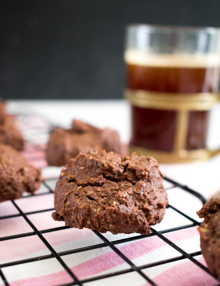 Receta de galletas saludables de avena y chocolate
