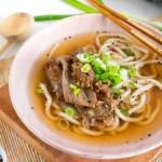 Sopa udon de rib eye – Niku udon casero