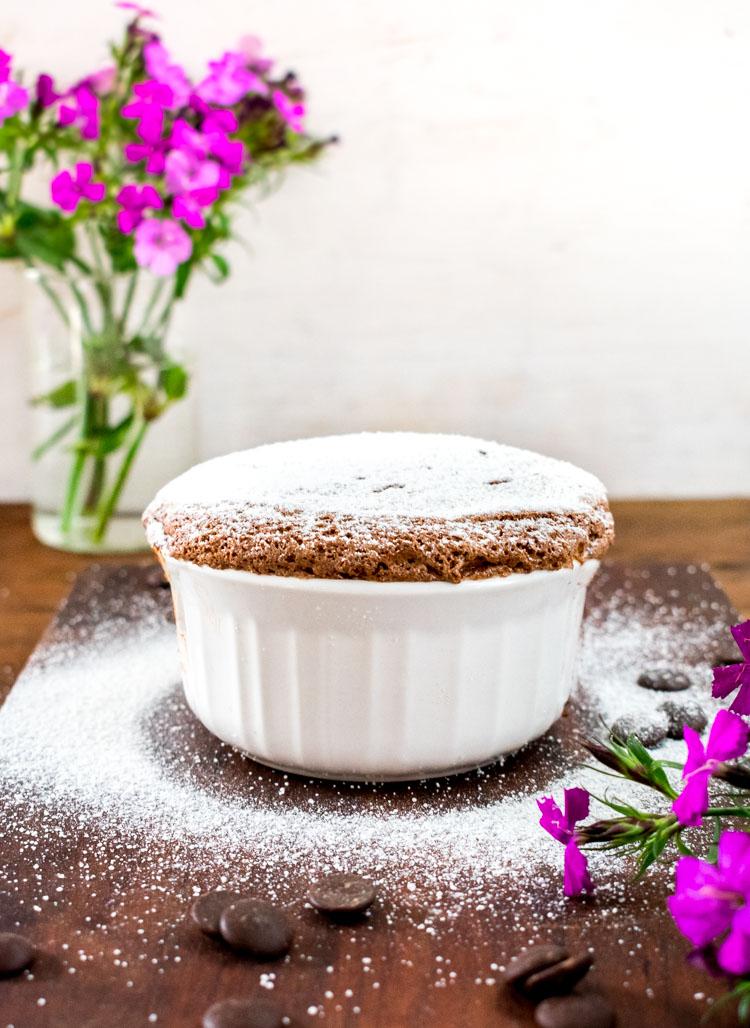 Receta de souffle de chocolate facil en español