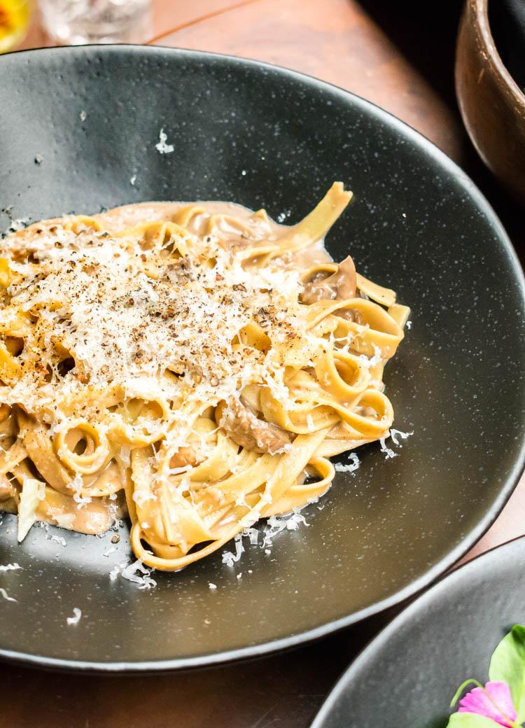 Tagliatelle en Casa Prunes, colonia Roma, bar y restaurante