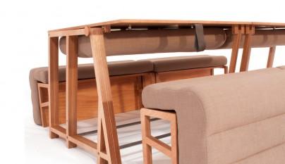 Un sof que se convierte en mesa y cama revista muebles for Sofa que se convierte en litera