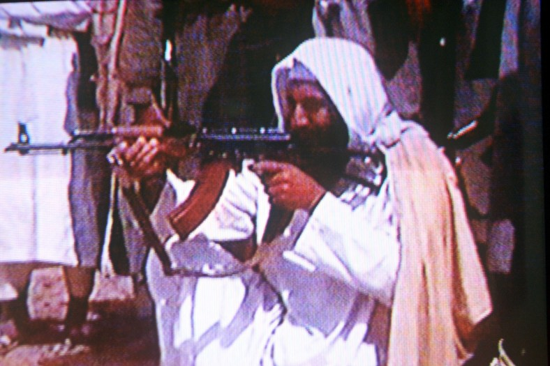 394735 04: (FILE PHOTO) Suspected terrorist Osama bin Laden is seen in this undated photo taken from a television image. (Photo by Getty Images)