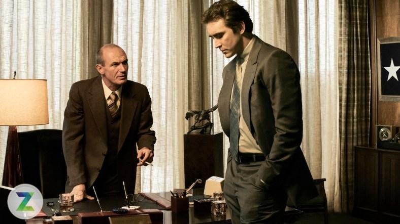 Toby Huss as John Bosworth and Lee Pace as Joe MacMillan - Halt and Catch Fire _ Season 1, Gallery - Photo Credit: James Minchin III/AMC