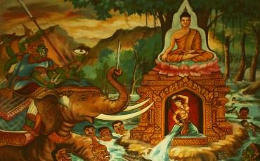 1 Mara, tratando de perturbar a Siddhārtha Gautama, justo antes del despertar. Creative Commons