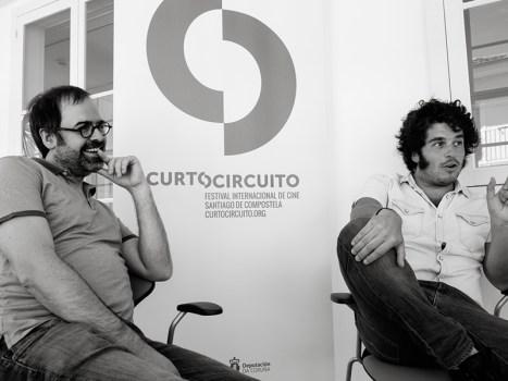 Xoán Xil e Pela del Álamo. Foto: Iván Barreiro