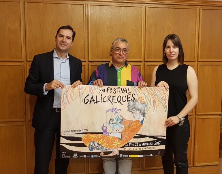 Jacobo Sutil, Branca Novoneyra e Jorge Rey presentaron o festival.