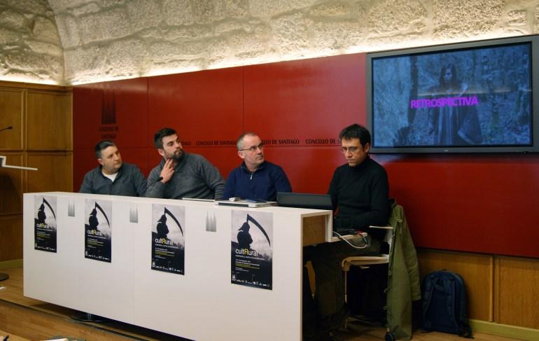 Paco Macías, Rafael Peña, Xan Duro e Aser Álvarez na presentación do cultRural.