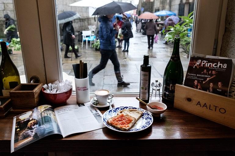 Almorzo con Pincha en O Pazo de Altamira. Foto: Iván Barreiro