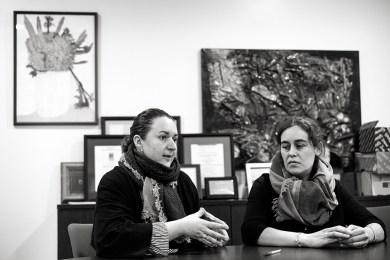 Blanca Taboada e Aloia Lema. Foto: Iván Barreiro