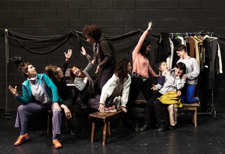 Actrices de Neorretranca e Posmorriña. Foto: Iván Barreiro