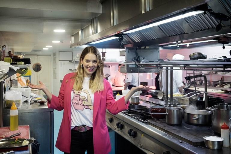 María Mera, na cociña do Caney-Roca. Foto: Iván Barreiro