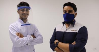 Produção e doação de escudos faciais