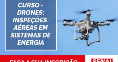 Curso de drone focado em sistemas de energia