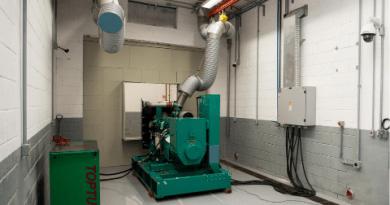 Sala de Testes de Engenharia dedicada a grupos geradores
