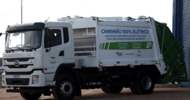 Caminhão elétrico da BYD integra projeto no PR