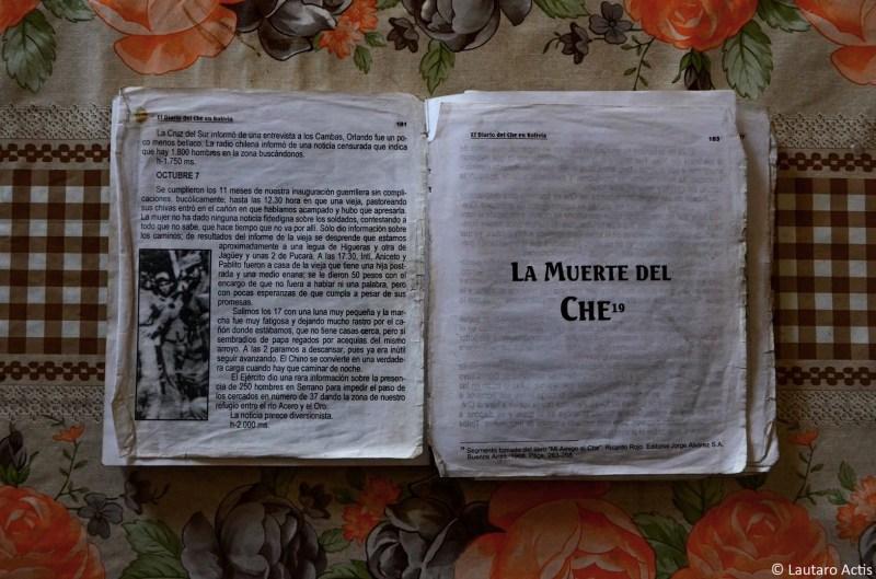El diario del Che en Bolivia que Doña Hirma enseña a los turistas ©