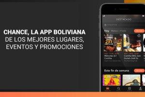 «Chance», la app boliviana de los mejores lugares, eventos y promociones