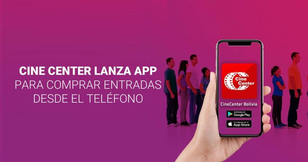 Cine Center lanza app para comprar entradas desde el teléfono.
