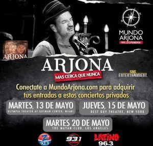 Ricardo Arjona mundo arjona eventos