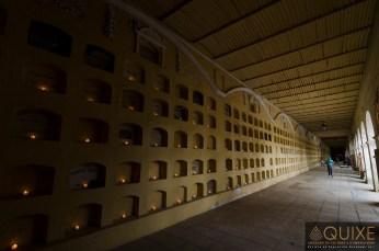 Nichos del Panteón General en Oaxaca.
