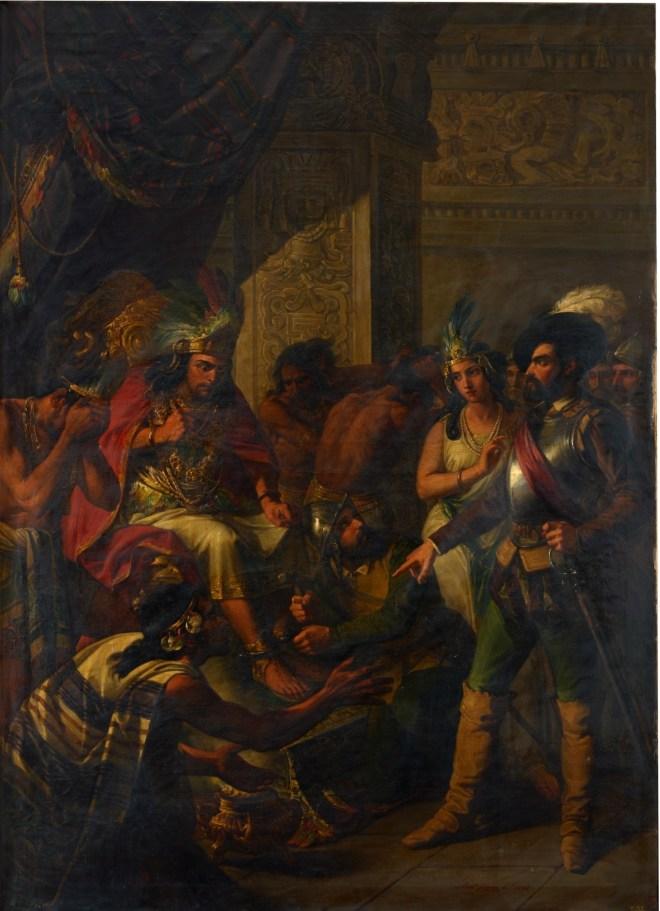 Hernán_Cortés,_el_célebre_conquistador_de_Méjico,_entra_con_la_intérprete_doña_Marina_y_tres_o_cuatro_de_sus_capitanes_en_el_aposento_de_Moctezuma,_y_con_imperio_y_resolución_le_manda_poner