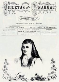 3) Portada Violetas del Anáhuac con Sor Juana