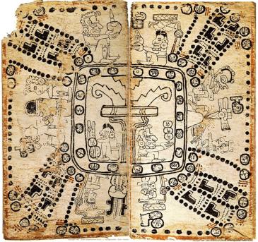 Piña-Investigación-Ethan A. Buendía Sánchez-Figura 3. Cosmograma de las páginas 75 y 76 del Códice Madrid. Tomado de httpwww.famsi.orgspanishmayawritingcodi