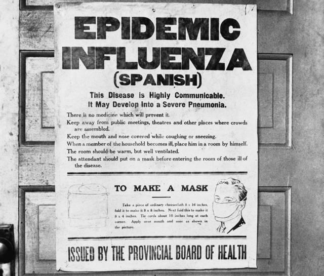 05. Un cartel de consejos para prevenir la gripe española