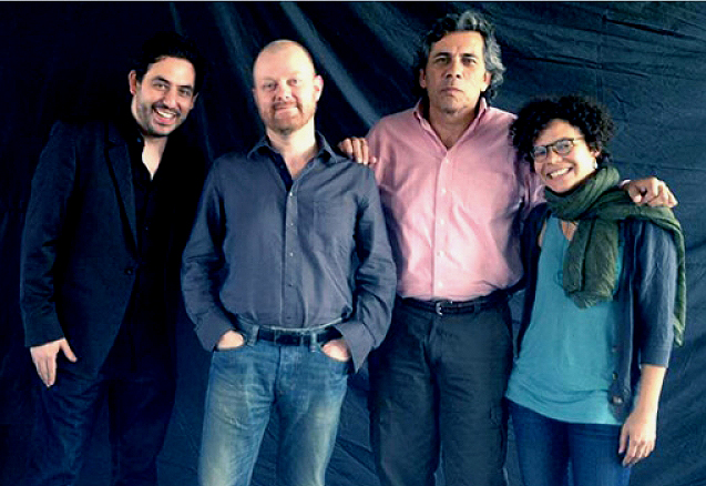 De izquierda a derecha, Bernardo Ruiz, Alexandre O. Philippe, Sergio Haro y Patricia Benabe.