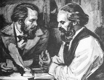 Engels y Marx.