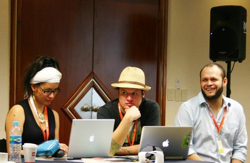 Katia Morales, de Puebla, Adolfo Soto, de Docs DF, y Benjamín Contreras, de Monterrey.