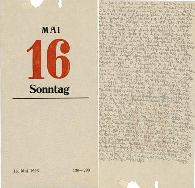 Escritura de Robert Walser.