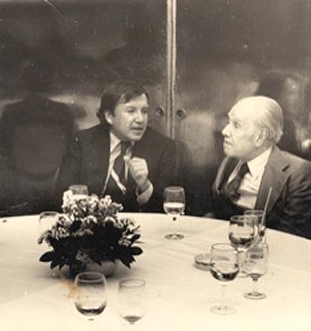 Capistrán y Borges en Ciudad de México, 1973.