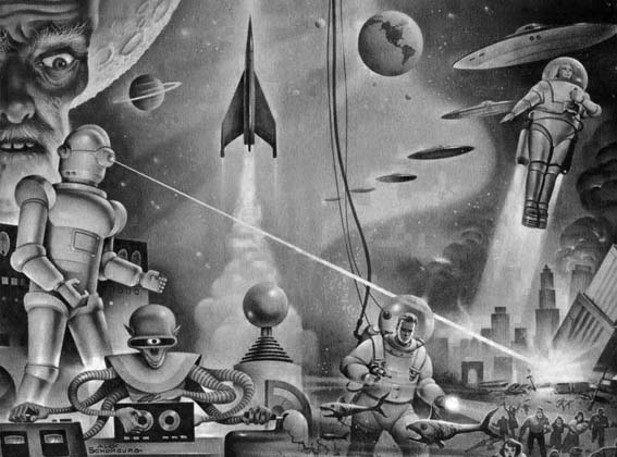 Otros mundos. © Winston Science Fiction (Alex Shomburg).