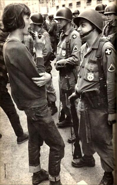 Mayo de 1968, París.