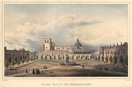 La Plaza Mayor de la antigua Guadalajara.