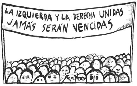 Dibujo de Nicanor Parra.