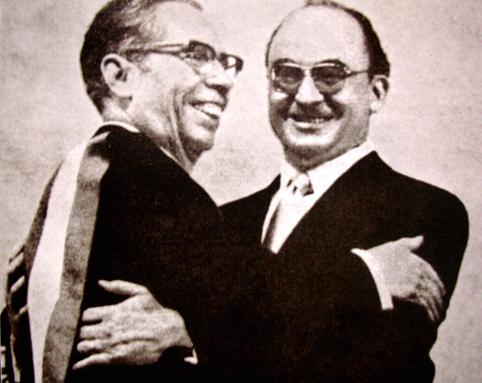 Luis Echeverría, a la derecha, con Gustavo Díaz Ordaz.
