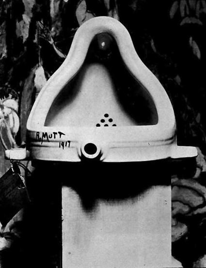 """La fuente"" de Marcel Duchamp, réplica de 1960."