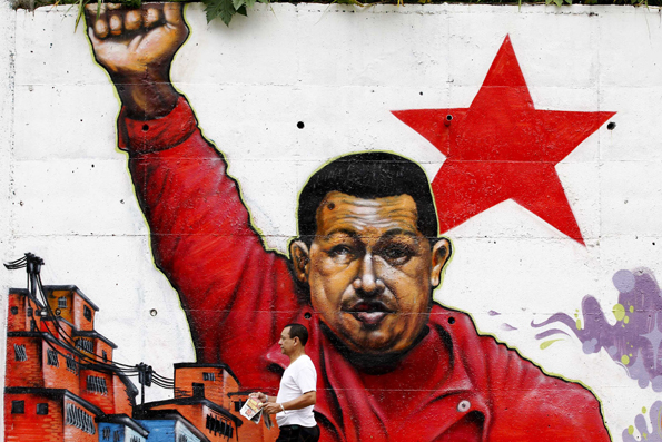 Un mural en Caracas.