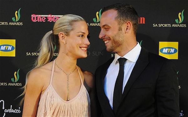 Oscar Pistorius y su esposa Reeva Steenkamp