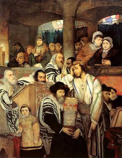 Celebración de la pascua judía en la Edad Media.